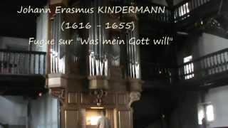 orgue Hendaye (F) - Fugue de  J. E.  KINDERMANN (XVIIe siècle)
