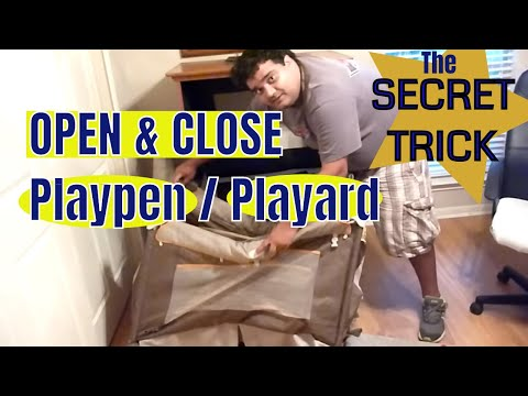 How To Open And Close A Baby's PLAYPEN **WITH NO EFFORT**