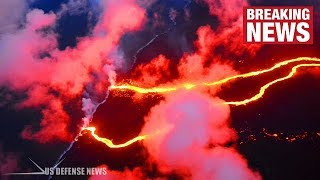 Hawaii Helicopter Evacuation Readied as New Lava Flow Hits Ocean