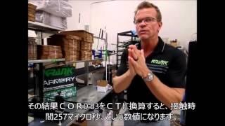 クランクゴルフの社長、ランス・リーダーが、実際のCT測定器を紹介しま...