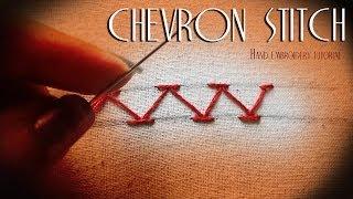 Chevron stitch: Hand embroidery Thumbnail