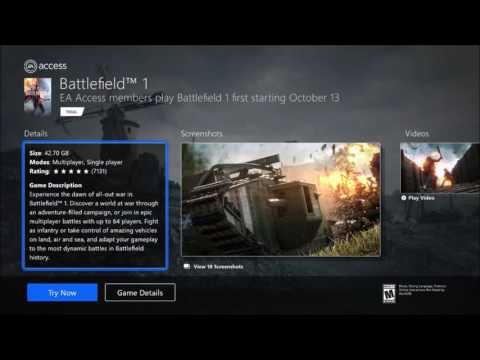 How to Download & Play Battlefield 1 Right Now on Xbox One Early! (Battlefield 1 Early)
