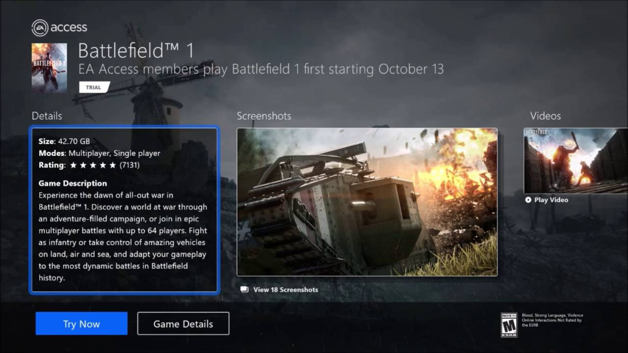 how to play battlefield 1 online xbox one