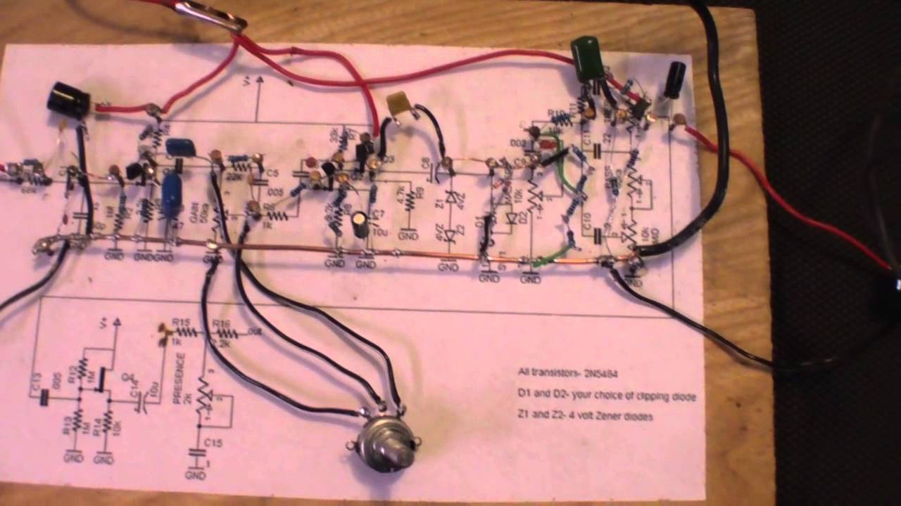 hight resolution of distortion pedal schematic