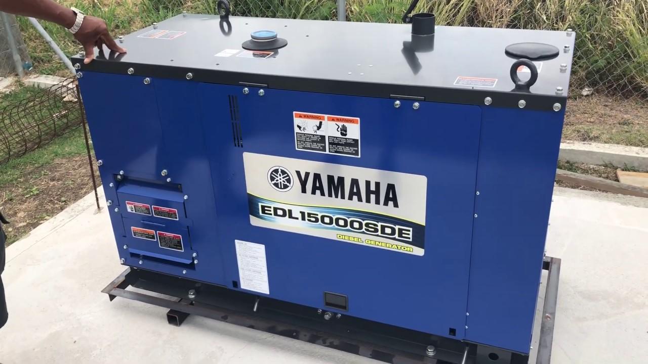 YAMAHA 15KVA EDL15000SDE Silent Diesel Generator