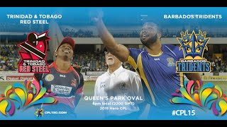 Game 25 highlights - Red Steel vs Tridents | #CPL15