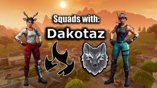 Playing with Dakotaz and his friends! Fortnite Battle Royale [ZeroBBQ]