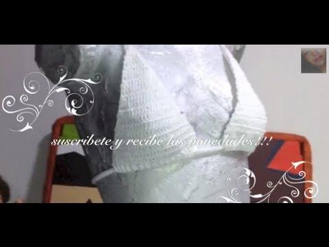 Como tejer top bra punto vareta ganchillo crochet   youtube