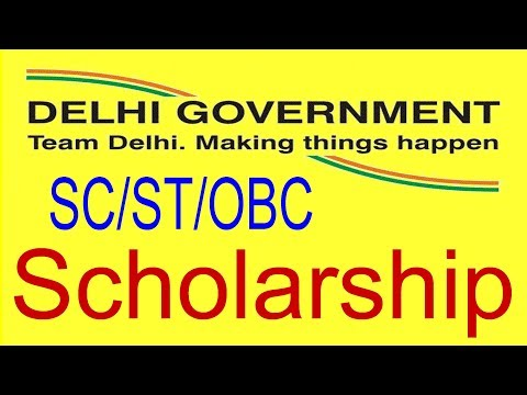 How To Apply Delhi Government Scholarship for SC/ST/OBC