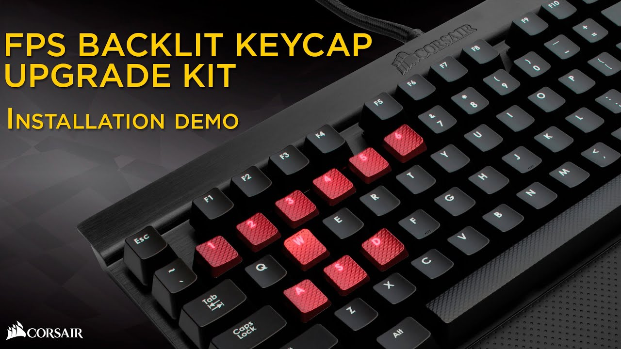 Red HUYUN 1set FPS Backlit Key Caps for Corsair K70RGB K70 K95 K90 K65 K63 Gaming Keyboards Cherry Key switches