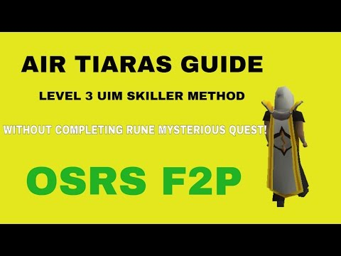 OSRS F2P] Air Tiaras Runecrafting Method for level 3