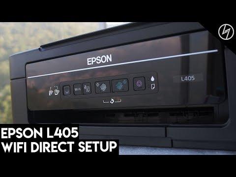 Epson L405 Printer - WiFi Direct Setup | CreatorShed - YouTube