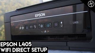 Epson L405 Printer - WiFi Direct Setup | CreatorShed