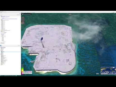 Who plants a 3d flag on Google Earth at Johnston Atoll