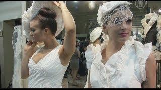 Свадебное платье из туалетной бумаги (новости)