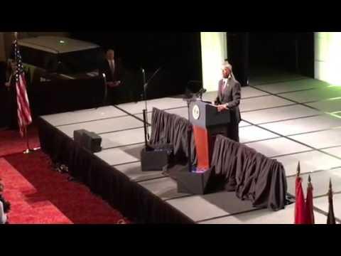 President Obama Thanks Veterans Shakes Hands At #DAV Speech Atlanta