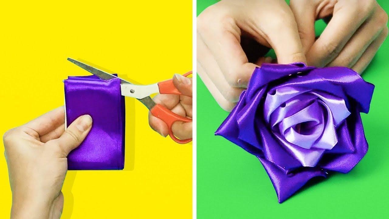 19 maravillosas manualidades con flores para hacer en 5 minutos youtube - Manualidades con papel craft ...