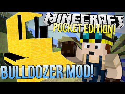 Minecraft Pocket Edition | BULLDOZER MOD | Mod Showcase