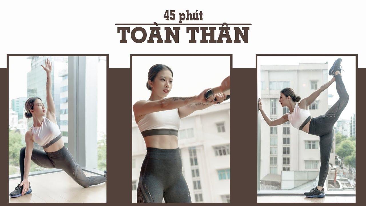 45 phút tổng hợp CARDIO CƠ toàn thân (500 calories, all level) | Hana Giang Anh | Workout #74