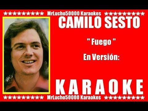 Camilo Sesto - Fuego  ( KARAOKE DEMO Nº 01 + COROS )