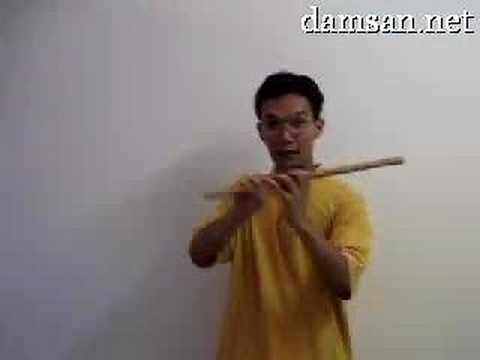 Sáo trúc cơ bản - cách cấm sáo