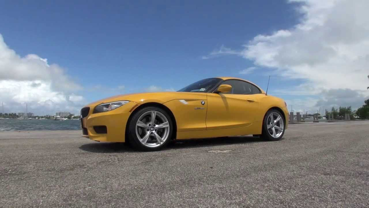 Bmw Z4 2013 Sdrive Yellow Youtube