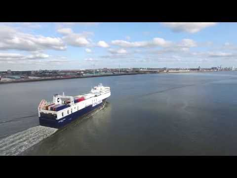 Sea Truck ship Liverpool Dji phantom 3 professional