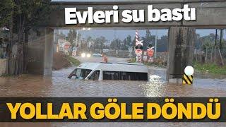 Adana'da Evleri Su Bastı! Yollar Göle Döndü...