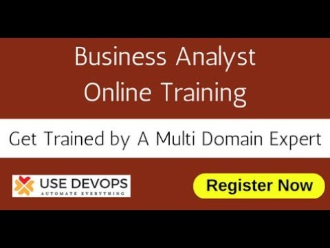 Business Analyst Online Training- BA Opportunities - Use DevOps