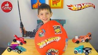 ГИГАНТСКОЕ ЯЙЦО сюрприз★ХОТ ВИЛС★ открываем машинки Giant surprise egg hot wheels