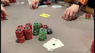 "EXTREMELY RARE 7-Bet w/ACES!!! ""Gets It In Against A Different Hand!"" Can't Miss!! Poker Vlog Ep 119"