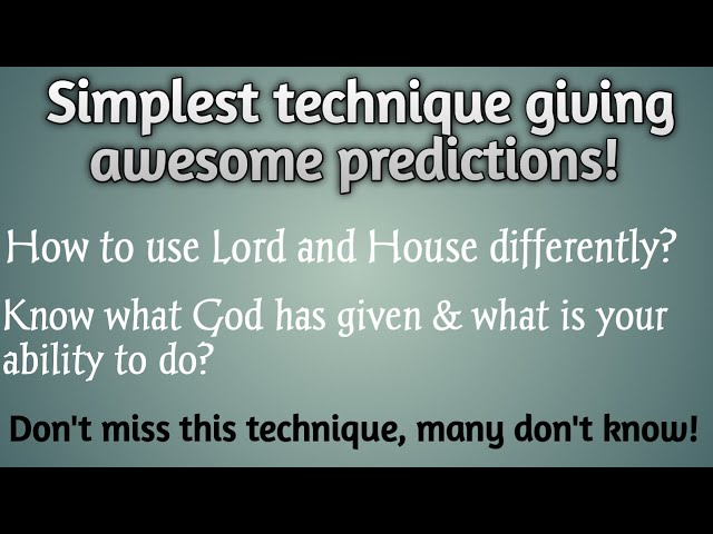 Know what god has given you? | Best explanation of diff between lord and house | Vedic Astrology