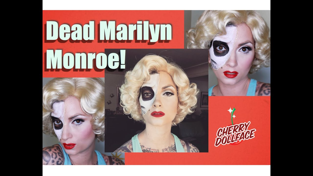 Halloween tutorial half dead marilyn monroe skeleton makeup by halloween tutorial half dead marilyn monroe skeleton makeup by cherry dollface baditri Images