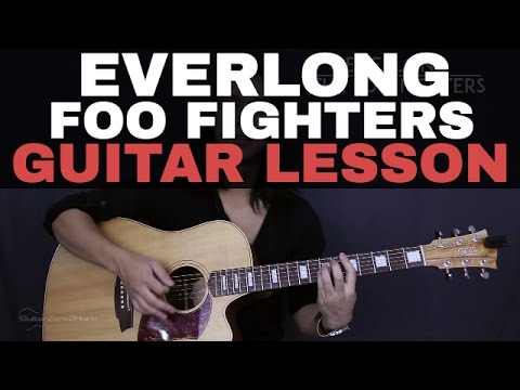 Everlong The Foo Fighters Guitar Tutorial Lesson Acoustic