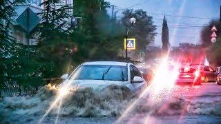 ПОТОП В СУДАКЕ! ЛИВЕНЬ в Крыму 18.08.2017 Затопило