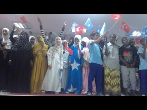 SOMALI-TURKISH students singing in turkish kafalo school mogadishu