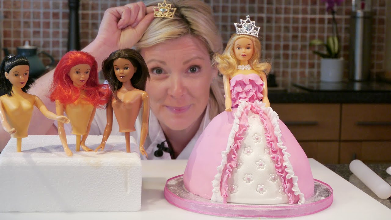 Easy Doll Cake Images : How To Make A Barbie Doll / Princess Cake with icing ...