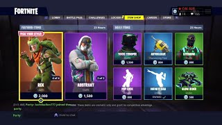 Fortnite Battle royale Item Shop 23 Augustus New Skins And And Giveaway (Nederlands)