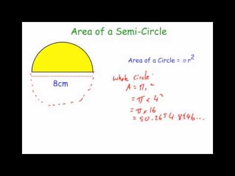Area of a semi circle youtube area of a semi circle ccuart Images