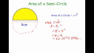 Area of a Semi Circle