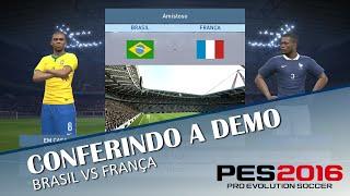 PES 2016 - Conferindo a Demo no Xbox 360 Brasil VS França