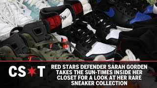 Red Stars defender Sarah Gorden shows off her rare sneaker collection