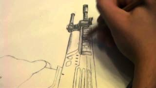 Black ops 2  Ballista Sniper SpeedArt ( Hand Drawing ) MUST WATCH