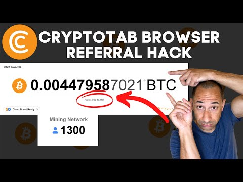 CRYPTOTAB BROWSER FREE REFERRAL HACK 2020 | 1000 REFERRALS FAST | CRYPTOTAB BROWSER PAYMENT PROOF