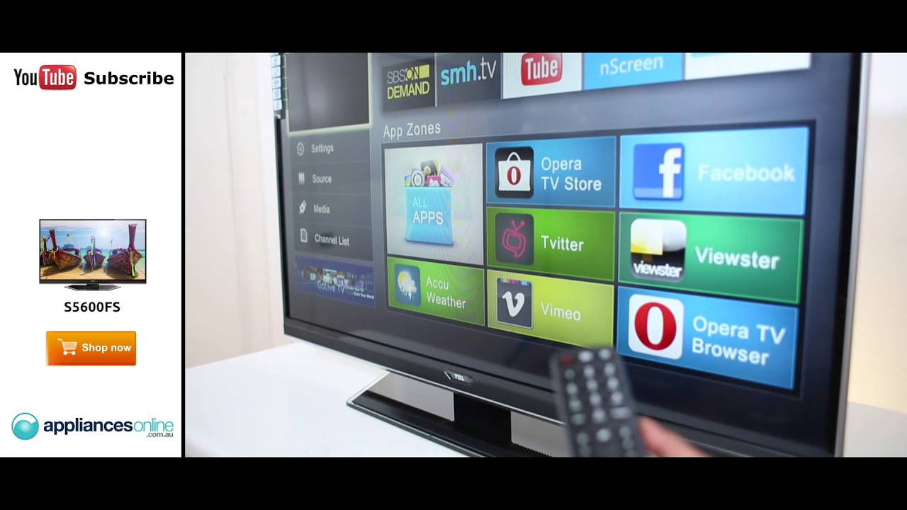 The TCL S5600FS Full HD Smart LED LCD TV with access to social media and  apps - Appliances Online