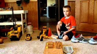 Rylee & Deven's toy construction equipment