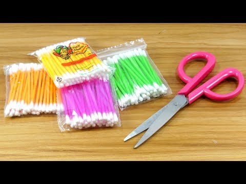 Best craft with cotton buds | Best craft idea | DIY arts and crafts | DIY cotton buds