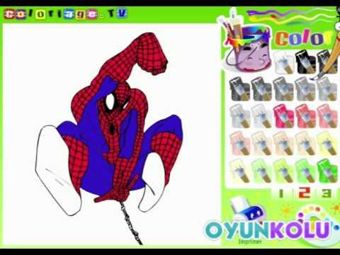 örümcek Adam Boyama Oyununun Oynanış Videosu Youtube