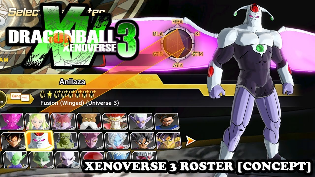 Dragon Ball Xenoverse 3 - | FULL ROSTER | ALL CHARACTERS [CONCEPT]  Xenoverse 2 Mods
