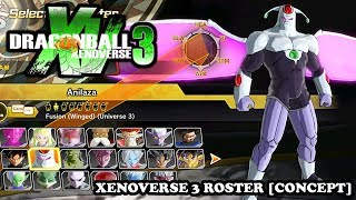 Dragon Ball Xenoverse 3 - | FULL ROSTER | ALL CHARACTERS [PROTOTYPE / CONCEPT] Xenoverse 2 Mods